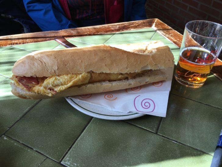 スペインのサンドイッチ