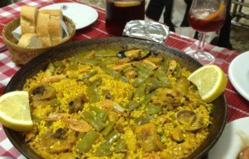 バレンシアのパエリア